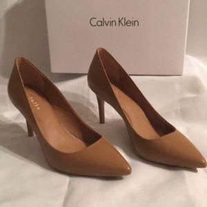 New.  Calvin Klein heels. Caramel